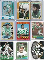 NY Jets Vintage Lot (30) Different w/ Rookies  Snell Boozer Klecko Todd Caster