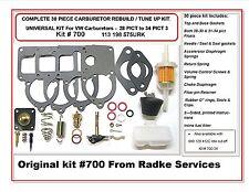 VW SOLEX Carb ReBuild Kit Universal WITH FLOATS  28/30/34 Pict-3 bug RADKE #700