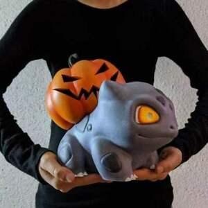 New Halloween pumpkins decorated garden ornaments resin crafts Pokémon Bulbasaur
