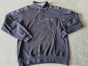 MENS BLUE TOMMY HILFIGER LONG SLEEVED POLO SHIRT - SIZE LARGE