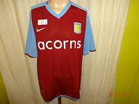 "Aston Villa FC Original Nike Heim Trikot 2008/09 ""acorns"" Gr.XL TOP"