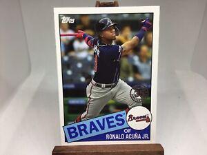 2020 Topps Series 1 Ronald Acuna Jr 1985 Insert Braves