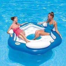 Colchon hinchable piscina isla 3 personas 191x178cm Bestway