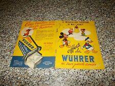 ALBUM LE MERAVIGLIOSE CREAZIONI DI WALT DISNEY WUHRER 1952 ORIG. CON 16 FIGURINE