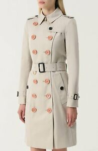 NWT Burberry  heritage stone trench coat $1895 US2, 36