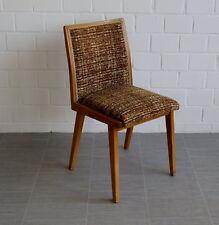 original Wilkhahn Polsterstuhl Bürostuhr Dining Chair Boucle Braun Vintage 60er