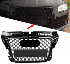 Fit For A3 2008-2012 S3 Style black Front Henycomb Mesh Bumper Grill