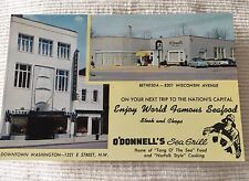 vintage postcard O'Donnell's Sea Grill restaurant Washington DC Bethesda unused