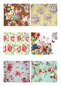 Edible Vintage Floral Wallpaper (13-18) A4 Icing Sheet Iced Cake Topper