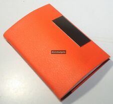 PU Leather Design Magnetic Business Card, Credit Card, Name Card Holder(Orange)
