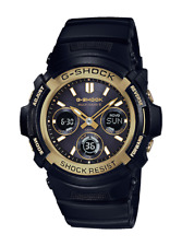 *BRAND NEW* Casio G-Shock Ana-Digi Multi-Band Gold Bezel Watch AWGM100SBG-1A