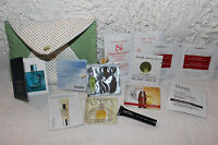 NEW L'Occitane Pouch Makeup Cosmetics Bag w/ Samples Lancome Korres Versace MAC