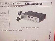 1978 JCPENNEY CB RADIO SERVICE SHOP MANUAL MODEL 981-6237 (981-8352) JC PENNEY
