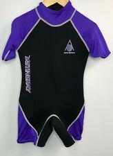 Aqua Sphere Youth Purple Stingray Wetsuit Core Warmer Nylon Short Sleeve Sz 6