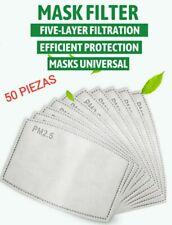 lote de 50 filtros  pm2.5, mascarillas , oferta