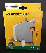 (2,21€/m) Schellenberg 50503 Mini Aufschraubwickler weiß, schwenkbar 14mm / 5m