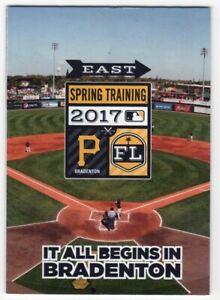 2017 Pittsburgh Pirates Spring Training Pocket Schedule