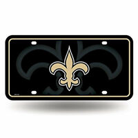 Rico Industries New Orleans Saints NFL Metal License Plate Tag
