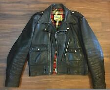 Brimaco Leather Jacket D Pocket 40 black biker double rider vintage 613 Buco