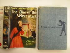 Nancy Drew #30, The Clue of the Velvet Mask, DJ, Early Edition