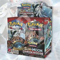 Pokémon CRIMSON INVASION 1/2 Booster Box (18 Packs) | FACTORY SEALED