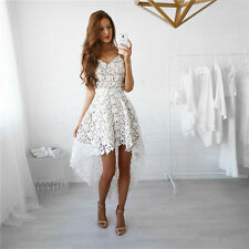 XL Women Fashion Summer Sleeveless Lace Evening Party Cocktail Short Mini Dress
