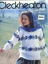 "Aran Fair Isle Knitting PATTERNS Men Women Sweaters Cardigans 30-44"""
