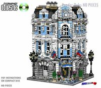 CD Custom Lego International Hotel, city town Instructions cafe corner hall #13