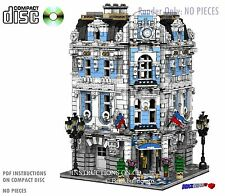 CD Custom Lego International Hotel, city town Instructions cafe corner hall #13
