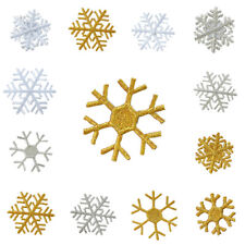 10x Snowflake Iron-on Patch Sew Christmas Applique DIY Sewing Badge For Clothing