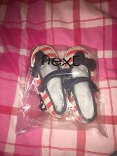 Next Toddler Girls Shoes Red White Blue Stripes Infant 6 Eu 23
