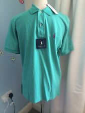 BNWT Ralph Lauren Indian Green 'solid Weathered Mesh' Polo Shirt Size S. RRP £75