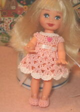 Kelly Doll Dress Handmade with shoes..Pretty