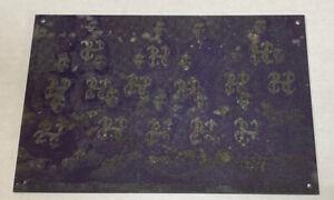 1902 Championship Football Team 12-0 Metal Printers PLATE PHOTO Rare