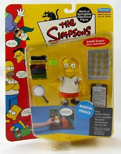 The Simpsons Martin Prince Action Figure World of Springfield Playmates New Wos