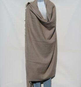 Blanket/Throw | Yak Wool Blend |Nepal |Handmade |Over-Sized | Beige & Ivory