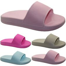 LADIES LIGHTWEIGHT SLIDERS SUMMER POOL BEACH FLIP FLOPS SHOWER GIRLS SHOES SIZE