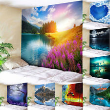 Scenery Tapestry Art Wall Hanging Hippie Landscape Throw Bedspread Home Decor