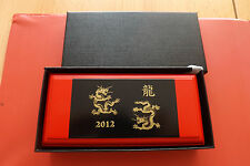 *Selten 5000 Sets!Palau 2 x 5 Dollars 2012 Silber PP (2 x 1 Oz)*Year of Dragon