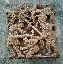 "History Aztec Mayan Mesoamerica Pre-Columbian Ritual wall sculpture 12"""
