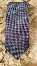 Roberto Villini Collezione 100% Soie Bleu Cravate Géométrique Col