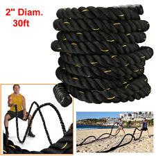 "2"" Poly Dacron 30 ft Battle Rope Exercise Workout Strength Training Undulation"