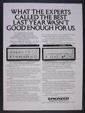 1977 Pioneer SA 9500 II Amplifier & TX 9500 II Tuner stereo amp vintage print Ad