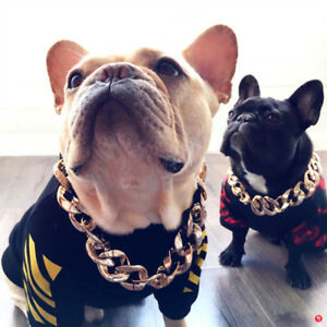 Dog Gold Chain for Small Medium Pet Collar Necklace Jewelry Accessories Pendant