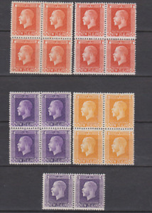 New Zealand 1915 Collection MNH & Mint Mounted P14 x 13 1/2 to 1/-   BLOCKS