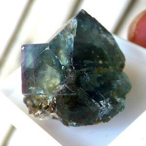Green Fluorite Crystal Twinned Zoned 19mm Heights Quarry Weardale UK Specimen