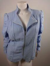 Nuevo con Etiqueta John Paul Richard Mujer Azul Chambray Chaqueta de Algodón