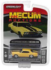 2017 GREENLIGHT 1:64 *MECUM AUCTIONS* YELLOW 1970 Chevrolet Chevelle COPO SS NIP