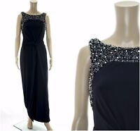 ex Monsoon Moriarty Embellished Side Slit Maxi Party Occasion Cocktail Dress
