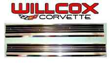 68-77 Corvette Sill Plate Set Correct  Door Sill Plate Set